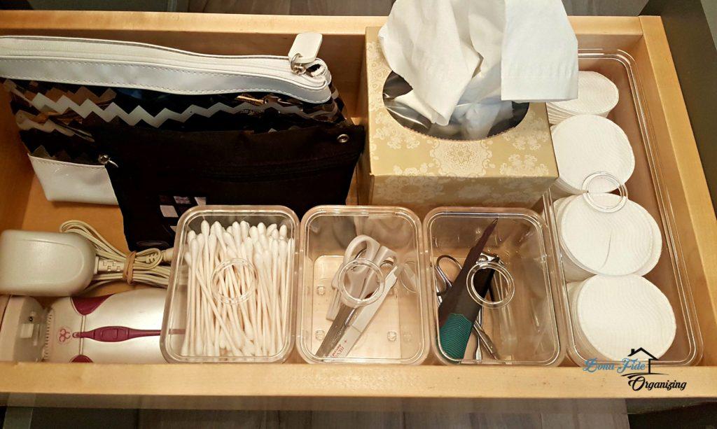 Bathroom Vanity Drawer Organizing